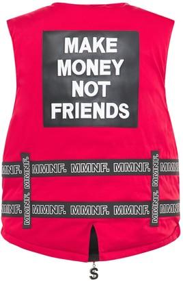 Make Money Not Friends Logo Vest W/belts