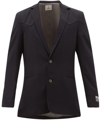 Boramy Viguier Single-breasted Wool-twill Blazer - Navy