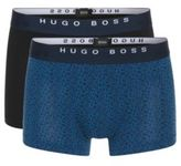 Hugo Boss Boxer 2P FN Print Cotton Trunk, 2-Pack L Open Green