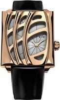 Rosegold RSW Women's Wonderland Rose-Gold Black Patent Leather Watch
