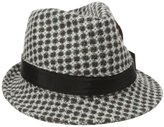 San Diego Hat Company San Diego Hat Women's Patterned Wool Fedora Hat with Feather