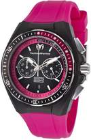 Technomarine Tm-110016 Women's Cruise Chrono Hot Pink Silicone Dial & Silicone Cover Watch