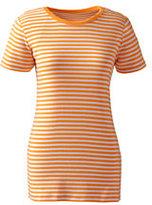 Classic Women's Tall Shaped Cotton Crewneck T-shirt-Soft Tangelo Stripe