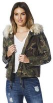 Only Camo Print Faux Fur Trim Short Parka, Women's