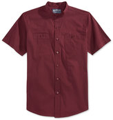 American Rag Men's Solid Band-Collar Short-Sleeve Shirt, Only at Macy's