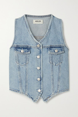 AGOLDE '70s Organic Denim Vest - Light denim