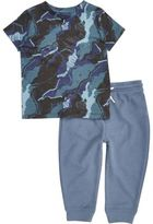 River Island Mini boys Blue camo pyjama set