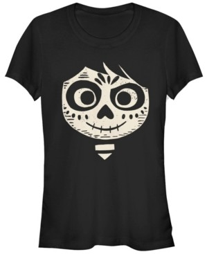 Fifth Sun Disney Pixar Women's Coco Miguel Face Halloween Short Sleeve Tee Shirt