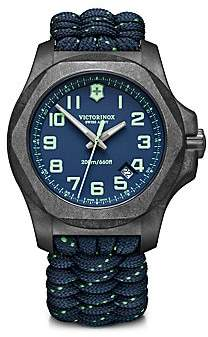 Victorinox Men's I.N.O.X. Carbon Blue Dial & Paracord Bracelet Two-Strap Watch
