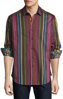 Robert Graham Lateran Long-Sleeve Striped Sport Shirt, Multi