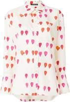 Alexander McQueen petal print blouse