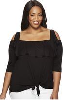 Kiyonna Kelsey Flounce Top Women's Clothing