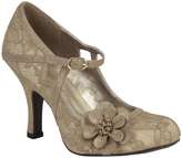 Ruby Shoo Gold Lace Elsy Pump