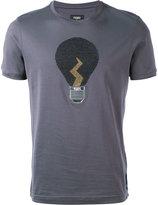 Fendi lamp appliqué T-shirt - men - Cotton/Crystal - 46