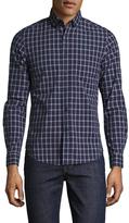 Slate & Stone Checkered Spread Collar Sportshirt