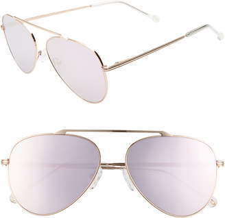 Colors In Optics Cosmic 58mm Aviator Sunglasses