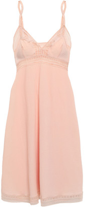 Eres Leavers Lace-trimmed Stretch-cloque Slip