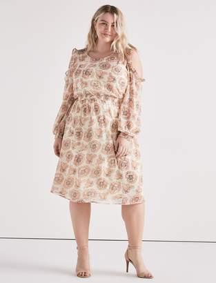 Lucky Brand Cold Shoulder Garden Dress