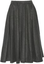 Co Wool-blend flannel midi skirt