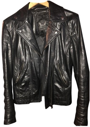 Diesel Black Gold Black Exotic leathers Jacket for Women