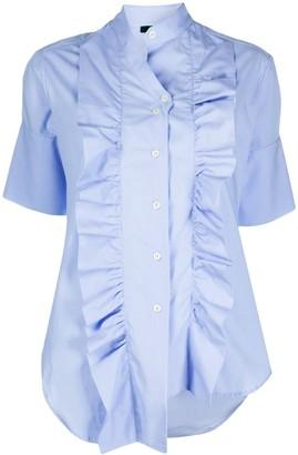 Jejia Ruffled Short Cotton Shirt