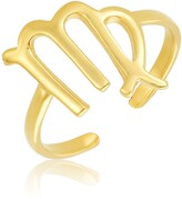 Thumbnail for your product : Sterling Forever 14K Gold Vermeil Plated Sterling Silver Adjustable Zodiac Ring - Virgo