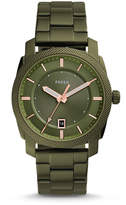 Fossil Machine Three-Hand Date Olive Green Stainless Steel Watch