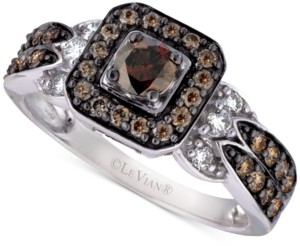 LeVian Le Vian Chocolate and Vanilla Diamond Ring (3/4 ct. t.w.) in 14k White Gold