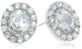 Nina 'Betty' Oval Halo Stud Earrings