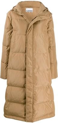 Ganni long line puffer jacket