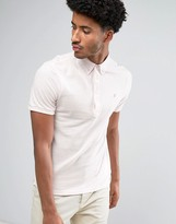 Farah Merriweather Short Sleeve Marl Polo Shirt in Light Pink