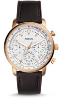 Fossil Goodwin Chronograph Brown Leather Watch