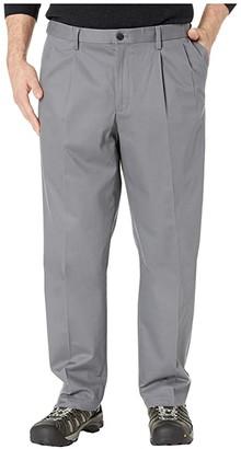 Dockers Big Tall Classic Fit Signature Khaki Lux Cotton Stretch Pants - Pleated (Burma Grey) Men's Casual Pants