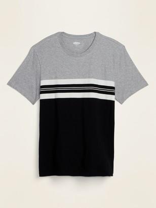 Old Navy Soft-Washed Color-Block Center-Stripe Tee for Men