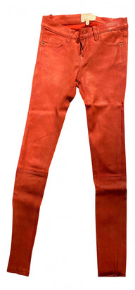 Current/Elliott Current Elliott Red Leather Trousers