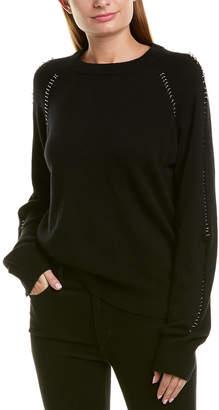 The Kooples Pierced Wool & Cashmere-Blend Sweater