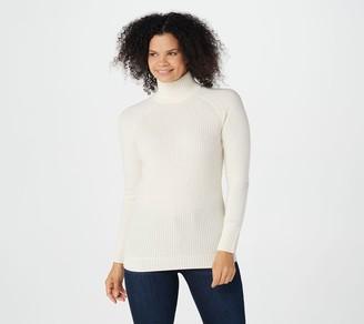 Naadam Soft By Soft by 100% Cashmere Waffle Stitch Mock-Neck Sweater