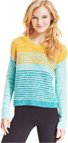 Eric + Lani Juniors Sweater, Long Sleeve Striped Ribbed