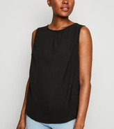 New Look Gathered Neck Sleeveless Top