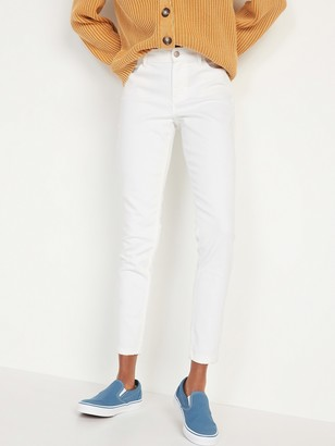 Old Navy Mid-Rise White Super Skinny Ankle Jeans for Women