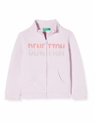 Benetton Girl's Felpa Zip Cardigan