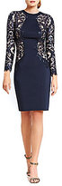 Tadashi Shoji Illusion Side Sequin Lace Sheath Dress