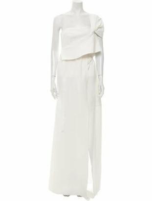 ADEAM One-Shoulder Long Dress White