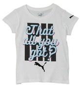 Puma Girls' Graphic T-shirt.