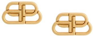 Balenciaga medium BB stud earrings