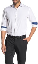 Construct Solid Long Sleeve Stretch Fit Shirt