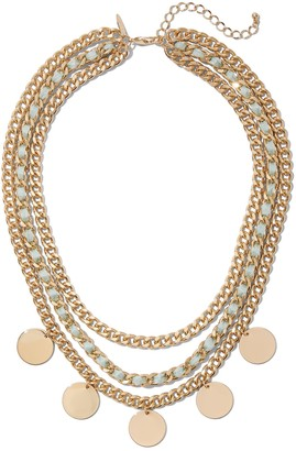 New York & Co. Goldtone Layered Necklace