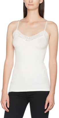 Selected Women's Sfmio Rib Lace Singlet - Noos Vest