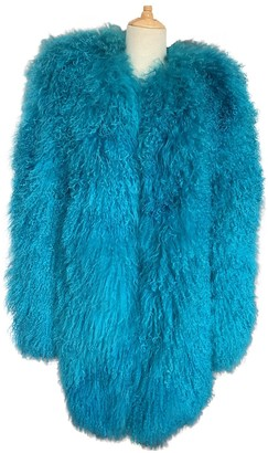Blumarine Turquoise Wool Coat for Women