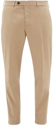 Brunello Cucinelli Straight-leg Cotton-blend Twill Chino Trousers - Mens - Beige